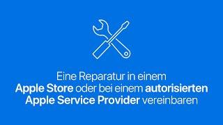 Eine Reparatur in einem AppleStore oder bei einem autorisierten AppleServiceProvider vereinbaren