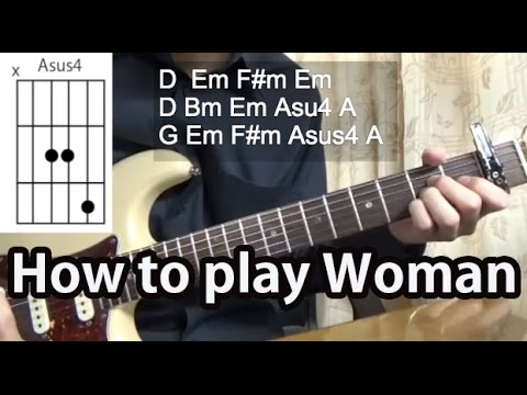 How to play Woman-John Lennon Guitar Tutorial with tabs - YouTube