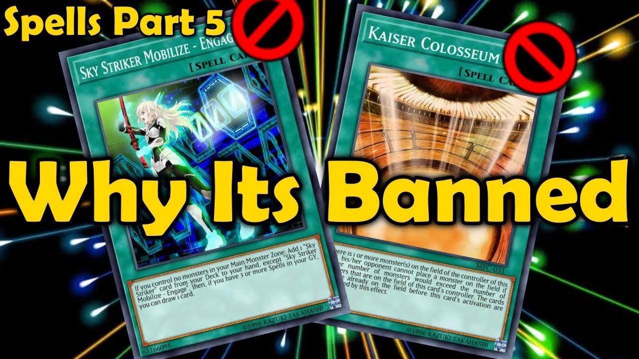 Sky Striker Mobilize - Engage!, Kaiser Colosseum: [Explaining All Banned Spell Cards in YuGiOh]