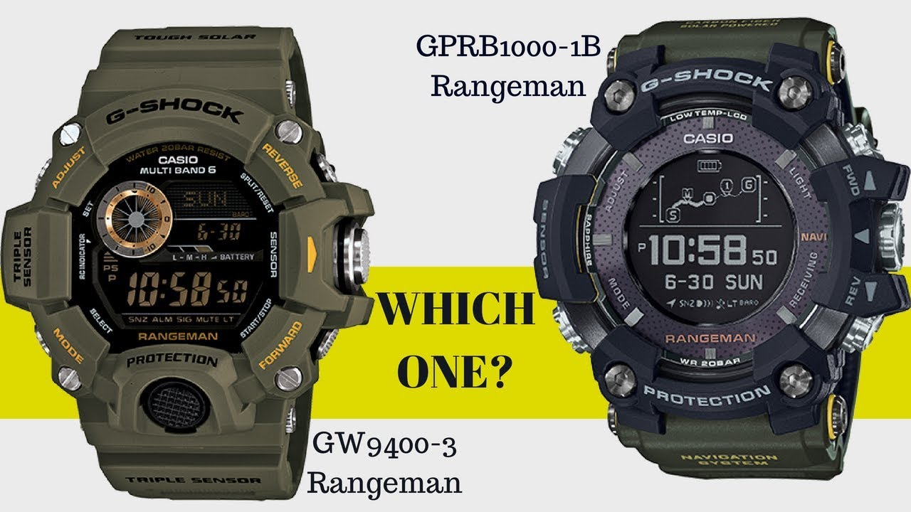 newest 96607 927cf Which One Is Better? GPR-B1000-1B Rangeman vs GW9400-3 Rangeman Watch  Comparison