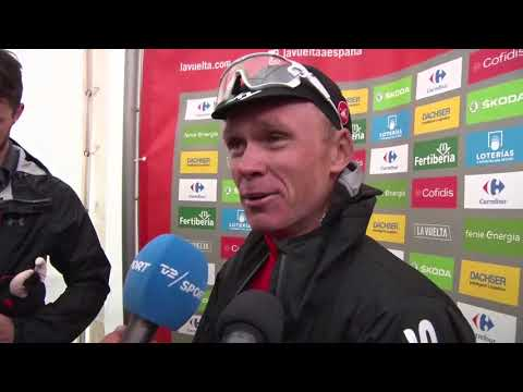 Christopher Froome - post-race interview - Stage 20 - Tour of Spain / Vuelta a España 2017