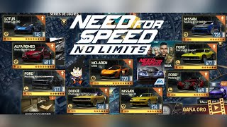 Need For Speed No Limits Android Subiendo de Fases Muchos Autos