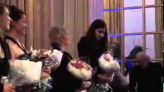 Лола Каримова-Тилляева и Тимур Тилляев на презентации узбекского фильма Паризод в Париже.