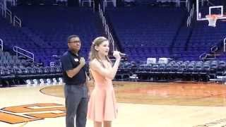 Mariah Larronde - National Anthem at US Airways Center, Phoenix AZ