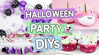 3 geniale Halloween 👻 DIY Ideen ♥ Monster Cupcakes, Einhorn Kürbisse 🦄 & Gespenster Girlande