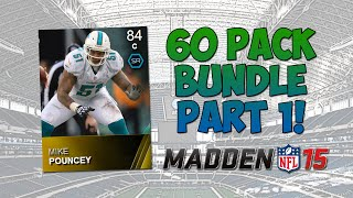 Mut 15 - 60 Pack Bundle Part 1! | Madden 15 Ultimate Team - 60 Pro Pack Bundle Opening