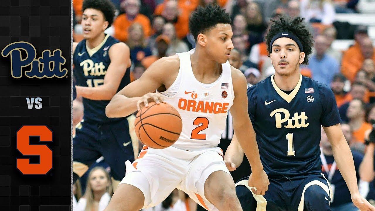 Pittsburgh Vs Syracuse Basketball Highlights 2017 18 Youtube