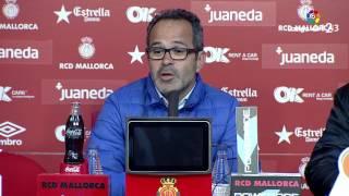 Rueda de prensa de Álvaro Cervera tras el RCD Mallorca vs Cádiz CF (0-0)
