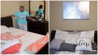 Bedroom Decor Haul + BEDROOM Transformation. (time-lapse)