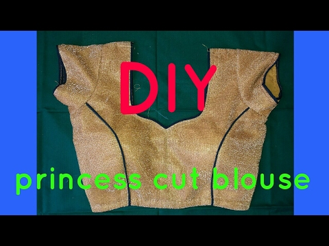 Princess cut blouse cutting and stitching step by step...