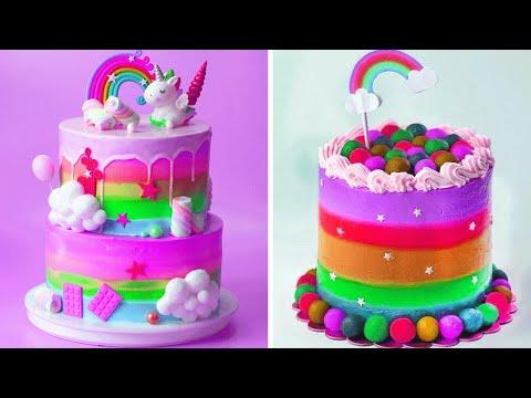 Awesome Rainbow Cake Decorating Tutorials   Easy Colorful Cake Hacks Compilation   Extreme Cake