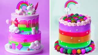 Awesome Rainbow Cake Decorating Tutorials | Easy Colorful Cake Hacks Compilation | Extreme Cake