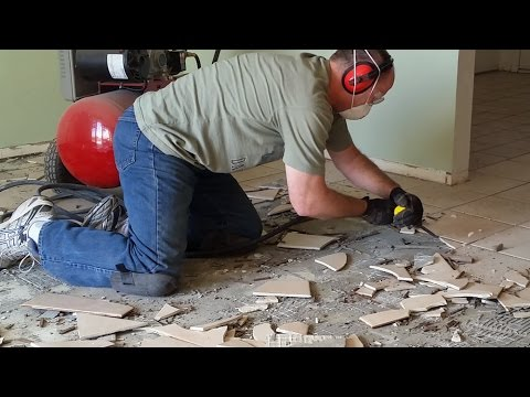 Best Way To Remove Tile Porcelain Ceramic Flooring Youtube