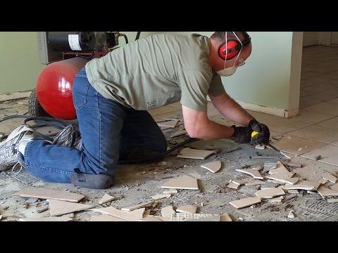 best way to remove tile porcelain ceramic flooring