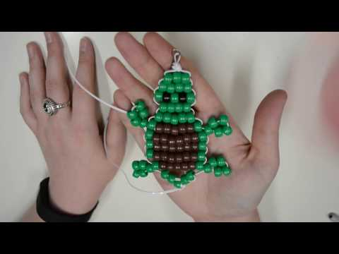 Beaded Turtle Keychain Tutorial