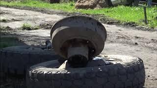 ГАЗ-53, 3307,...снимаем заднюю ступицу,шпильки крепления колеса