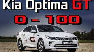 Kia Optima GT 2017 T GDI   Разгон 0 100 км/ч  Реальная динамика Киа Оптима ГТ 2 0   245 Racelogic