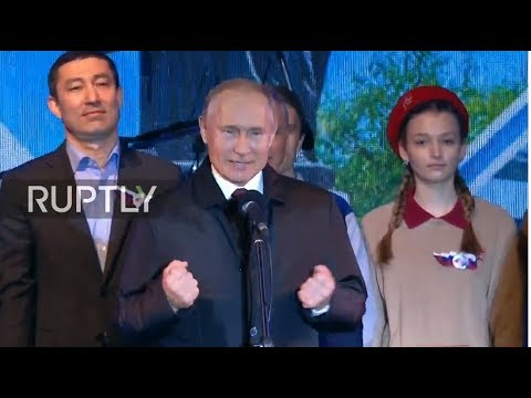 LIVE: Putin makes appearance at concert celebrating Crimea's reunification with Russia - ORI