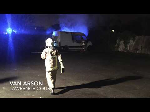 Rock Ferry - Lawrence Court - Van Arson Aftermath - Birkenhead
