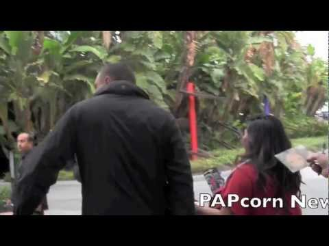 FIRST VIDEO SINCE THE BREAK UP CHRIS BROWN AND RIHANNA DEPART THE LAKER GAME