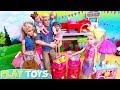 Barbie Girl, Ken & Baby Dolls Ice Cream Shop at Horse Fair!