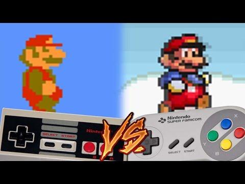 NES Vs Super Nintendo - Super Mario Bros