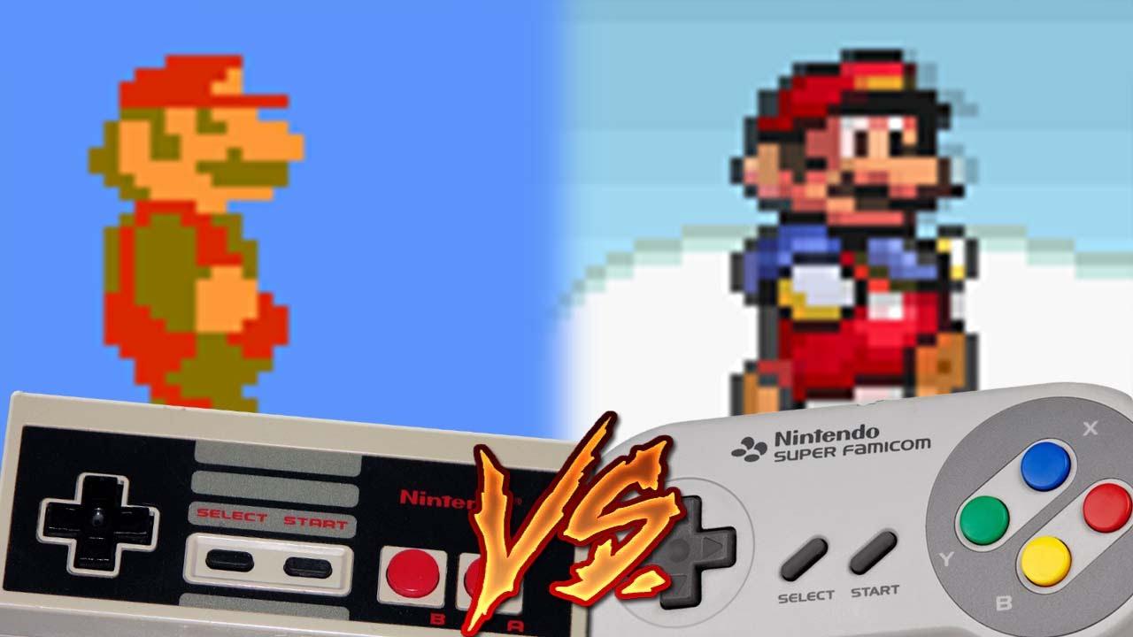 Nes Vs Super Nintendo - Super Mario Bros - Youtube-8901