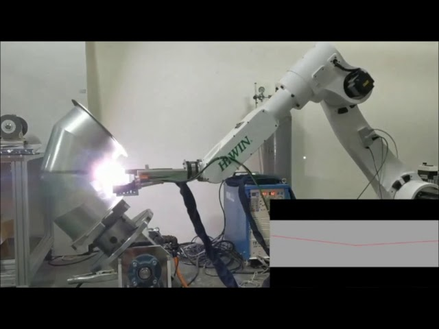 Seam Tracking Application of Bent Pipe Using QuellTech Laser Scanners and Robot Arm - by Quadrep