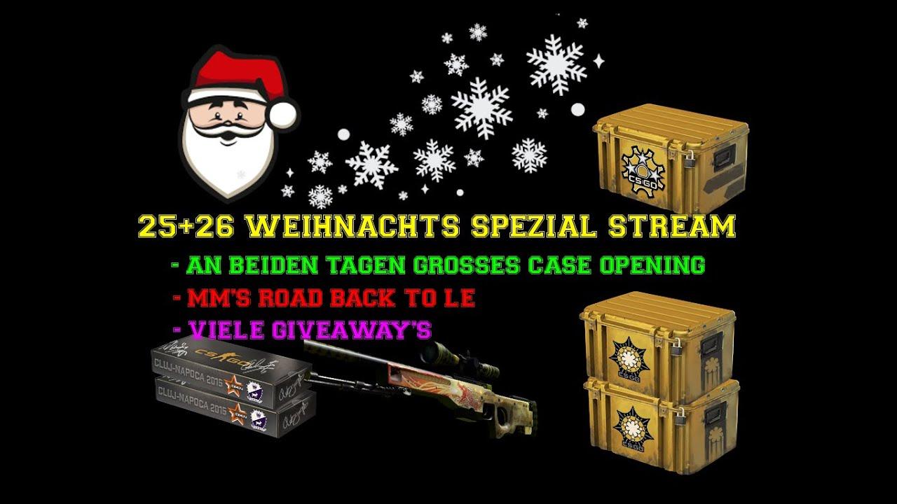 weihnachts livestream case opening fette giveaways und. Black Bedroom Furniture Sets. Home Design Ideas