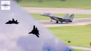 Malaysian Air Force SU-30, MiG-29, F/A-18, Hawk. USAF F-15, F-22 in Action