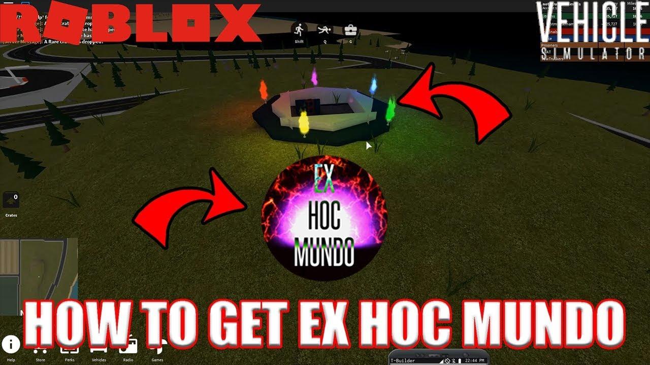 how to get ex hoc mundo badge in vehicle simulator roblox youtube. Black Bedroom Furniture Sets. Home Design Ideas