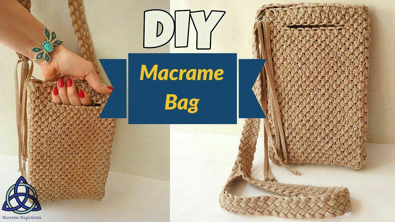 How To Make Macrame Bag Tutorial Easy