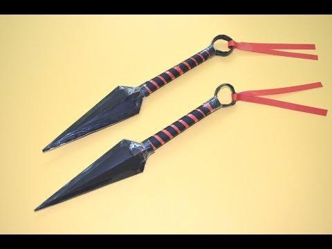 Como hacer un Kunai de papel | Kunai Naruto | juguete de papel