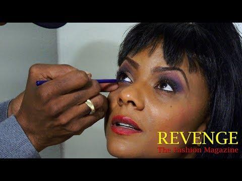 Make-Up Master Lenny Hamilton At Work