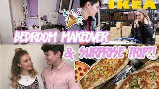 SURPRISING MY BOYFRIEND WITH A TRIP AWAY & REDECORATING MY ROOM!