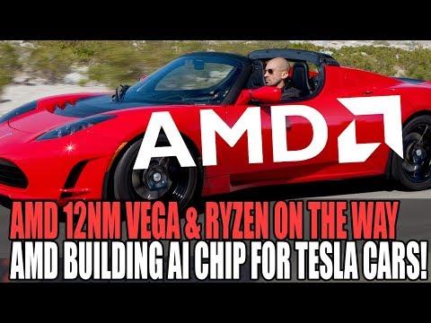 AMD Producing Radeon & Ryzen On 12nm & Working With Tesla On AI Chip