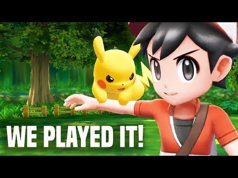 Pokemon Let's Go Pikachu: IS IT FUN?! WE PLAYED IT! (E3 2018 Nintendo Switch)