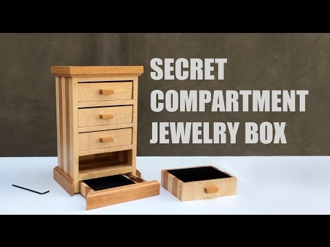 Secret Compartment Jewelry Box