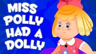 у мисс полли была тележка | детские стишки для детей | Miss Polly Had A Dolly | песня в россии