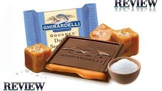 Ghirardelli Dark Chocolate Salt & Caramel Square Review #89