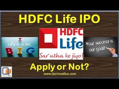 HDFC Life IPO | HDFC Standard Life IPO | HDFC Standard Life Insurance IPO | HDFC Life IPO Review