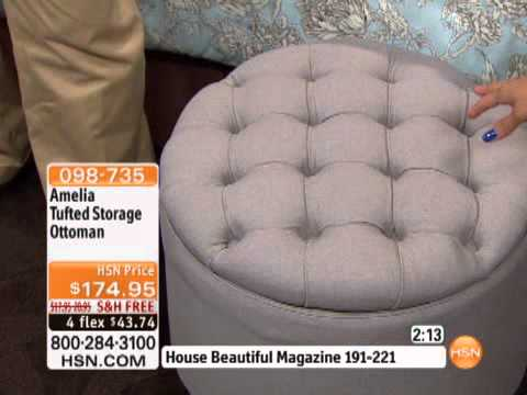 Amelia Tufted Storage Ottoman - White - Amelia Tufted Storage Ottoman - White - YouTube