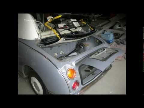 Nissan Figaro. Пост красоты. Кузовной ремонт в Москве. Покраска авто.