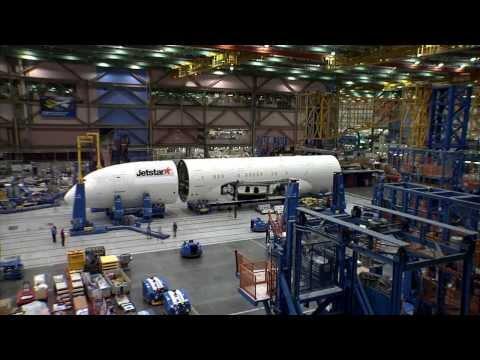 Jetstar's first Boeing 787 Dreamliner - Put Together Quickly