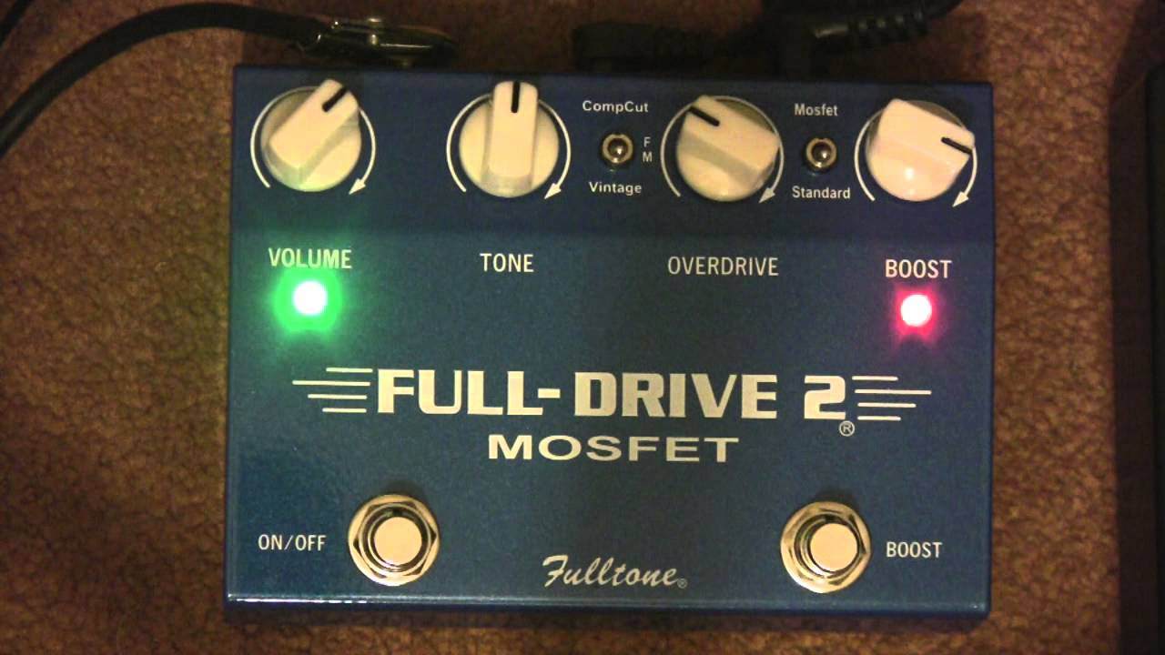 fulltone fulldrive 2 mosfet overdrive distortion pedal demo youtube. Black Bedroom Furniture Sets. Home Design Ideas