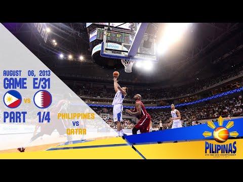 Philippines Vs Qatar | FIBA Asia Cup 2013 | Pt. 1_1