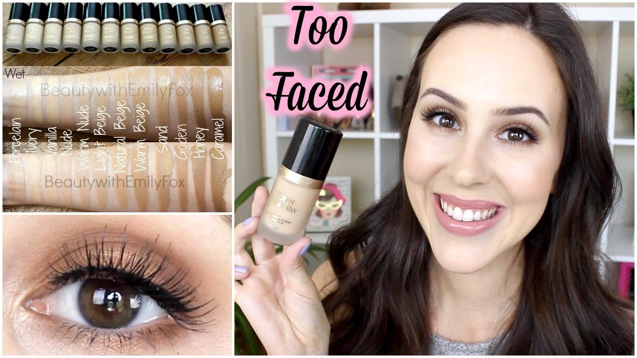 too faced born this way foundation review grwm semi sweet palette