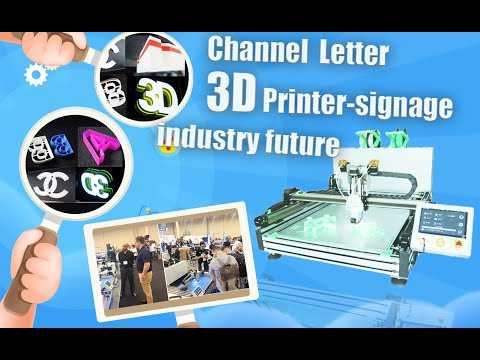Industrial Automatic Color-Changing Shell Channel Letter 3D Printer Demo