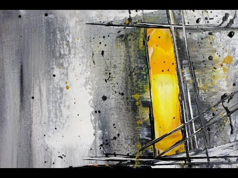Easy ABSTRACT Painting/For Beginners/Real Time/Abstract Malen Für Anfänger/Echtzeit/V288