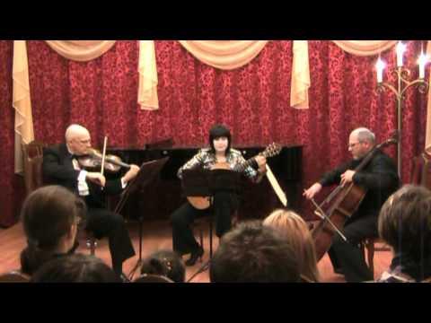 Паганини, Никколо - Концертный терцет ре мажор для скрипки, гитары и виолочели